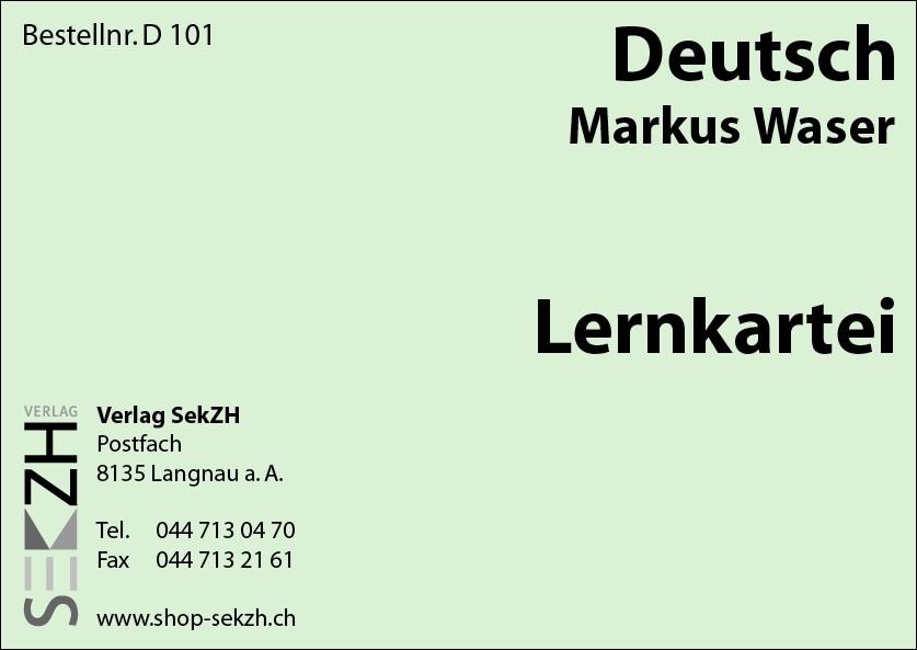 D101 - Lernkartei Deutsch